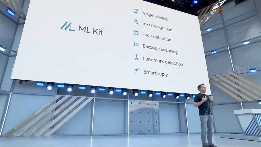 ML Kit and templates shown at I/O 2018