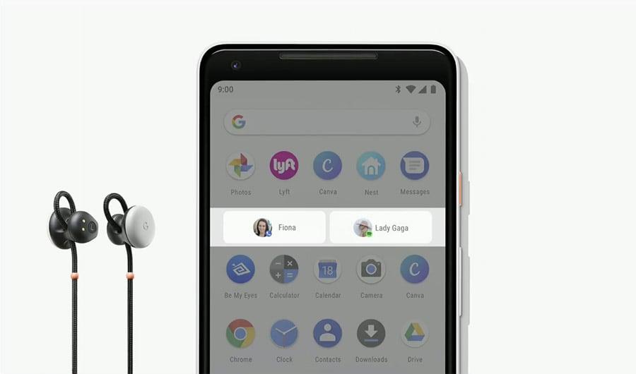 Headphones and smartphone showcasing App Actions