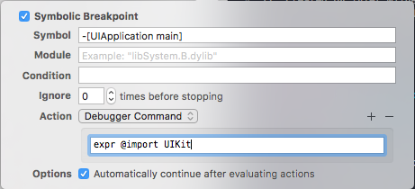 adding breakpoint in debugger command