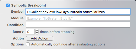 catching errors in UICollectionView's flow layout