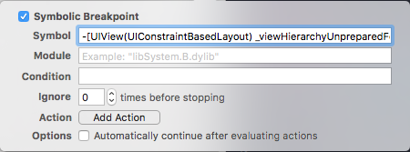 breakpoint to identify Auto Layout constraint issues