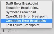 using constraint error breakpoint instead of using UIViewAlertForUnsatisfiableConstraints