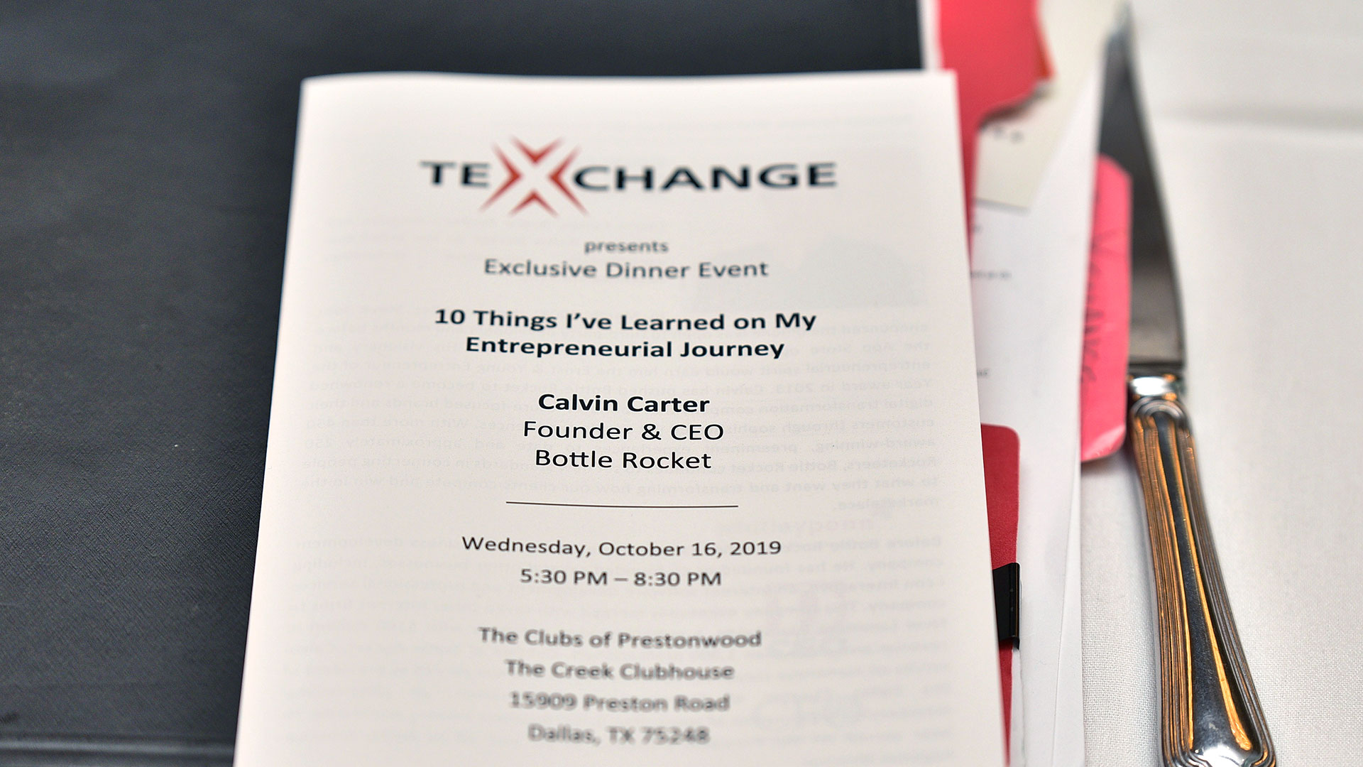 Calvin Carter to speak at upcoming TexChange Event